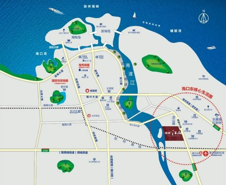 鸿洲江山区位图