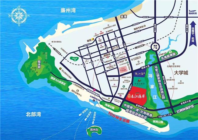 彰泰春江海岸交通图